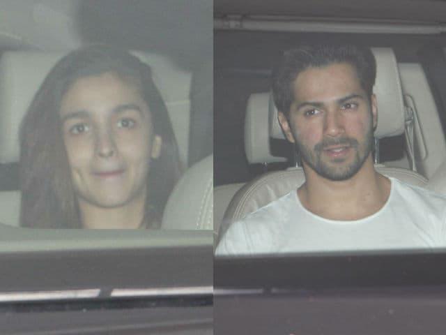Alia Bhatt, Varun Dhawan Meet Karan Johar's Twins Again