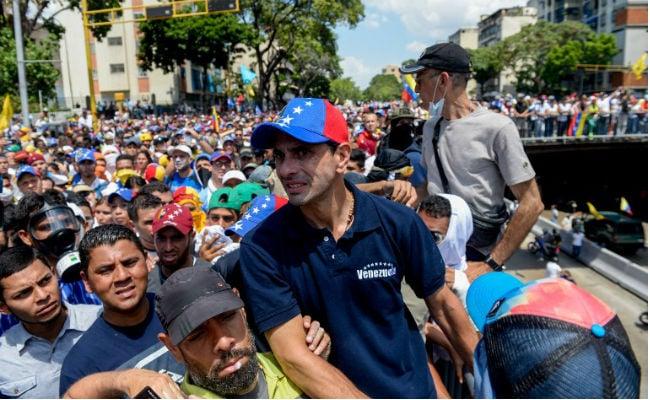 venezuela protest opposition leader afp