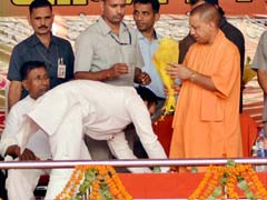 UP Legislator, Accused Of Killing Wife, Shares Stage With Yogi Adityanath