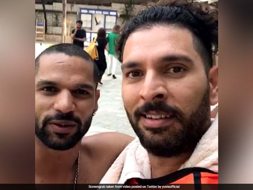 Yuvraj Singh Takes The Mickey Out Of Shikhar Dhawan On April Fool