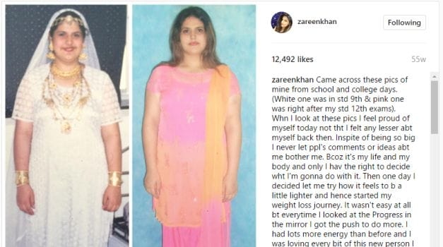 zareen khan body shaming