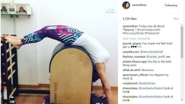 zareen khan pilates