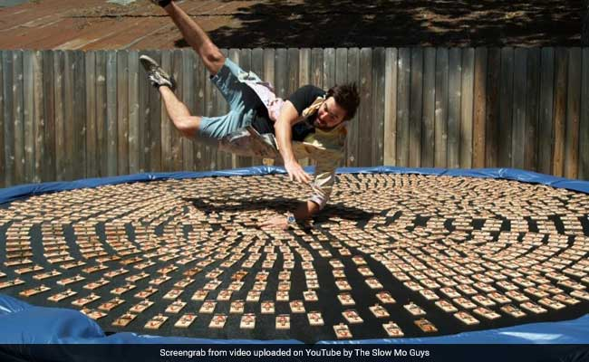 This Slow Motion Video Of A Man Jumping On 1,000 Mousetraps Is Crazy Viral