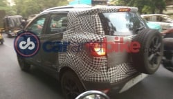 2017 Ford EcoSport Facelift Spied Testing In India