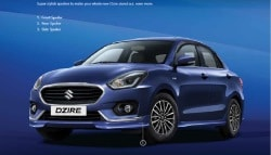 2017 Maruti Suzuki Dzire Gets New Accessory And Styling Packages