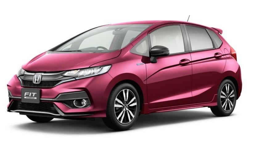 2018 honda jazz facelift officially unveiled in japan ndtv carandbike. Black Bedroom Furniture Sets. Home Design Ideas