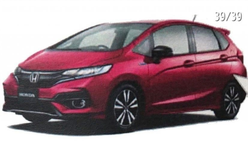 2018 Honda Jazz Facelift Leaked In Japan Ndtv Carandbike