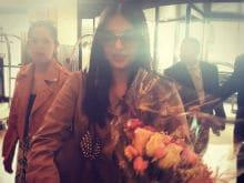 Cannes Film Festival: Aishwarya Rai Bachchan Arrives, Welcomed With Flowers