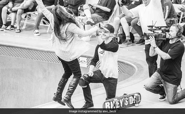 Watch: Skateboarder Pulls Off Clever Stunt To Propose To His Girlfriend