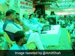 Amit Shah Listens To PM Narendra Modi's 'Mann Ki Baat' With Slum-Dwellers