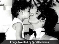 सामने आई बच्चों के साथ अमिताभ की 40 साल पुरानी फोटो, बेटी को किस करते दिखे