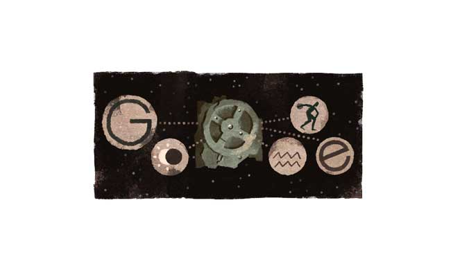 Google Celebrates 115th Anniversary Of The Antikythera Mechanism's Discovery With A Doodle