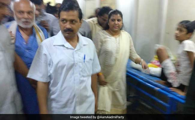 Delhi Chief Minister Arvind Kejriwal Makes Surprise Inspection At Sanjay Gandhi Hospital