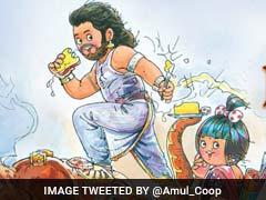 'बाहों से बैली तक': 'बाहुबली' पर अमूल मक्खन का तड़का...