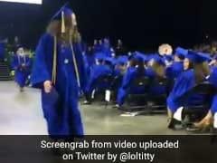 Student Attempts Backflip At Graduation. Splat. Epic Fail.