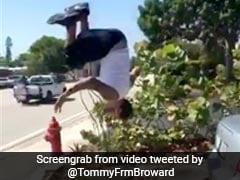 वायरल वीडियो : जब कलाबाज़ी ने लगभग ले ही ली युवक की जान - ट्विटर हुआ परेशान...