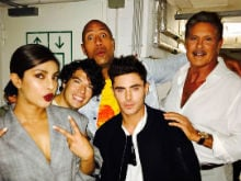 <i>Baywatch</i> In Berlin: Priyanka Chopra Bonds With 2 Mitch Buchannons