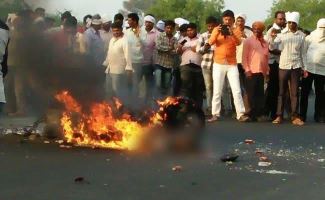 In Shocking Video, Burning Man Didn't Stop Traffic On Maharashtra Highway