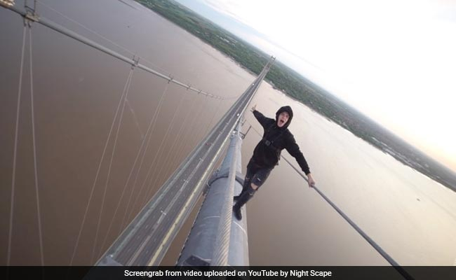 YouTubers Climb One Of England's Tallest Bridges In Extremely Scary Video