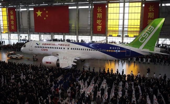 Chinese-Made Passenger Jet Takes Off For Its First Test Flight