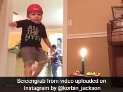 दो साल के बच्चे ने इस अंदाज में बुझाया बर्थडे कैंडल, देखकर कहेंगे Wow...