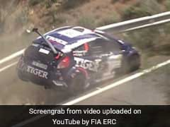 Rally Car Driver Narrowly Misses Falling Off Cliff In Viral Video