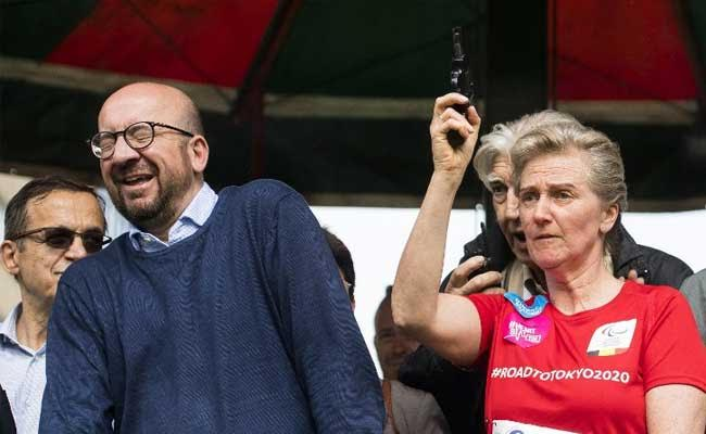 Belgian Prime Minister Charles Michel Deafened By Royal Starting Gun