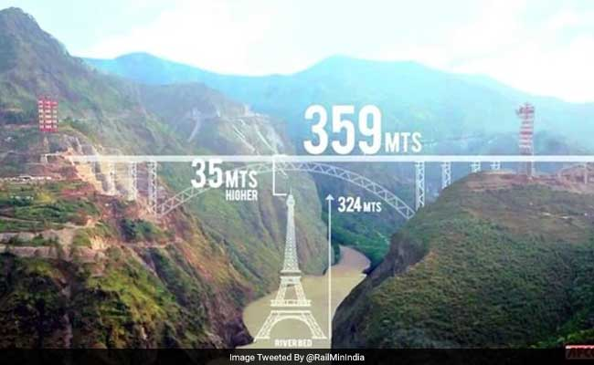 Railways Launches Main Arch Of Worlds Highest Bridge On Chenab River - Highest river in the world