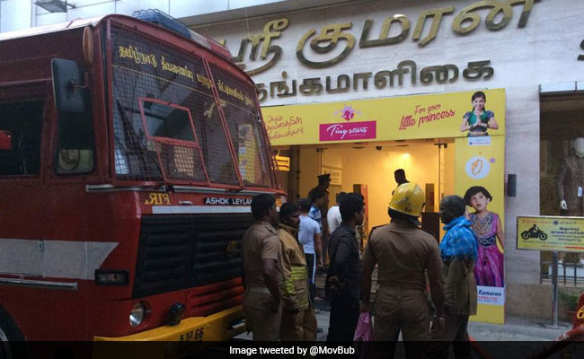 Fire breaks out in Chennai Silks showroom in T Nagar