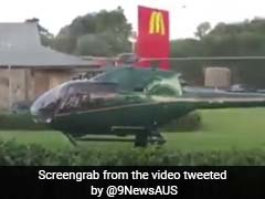 Pilot Lands Helicopter At McDonald's. He Was Hungry