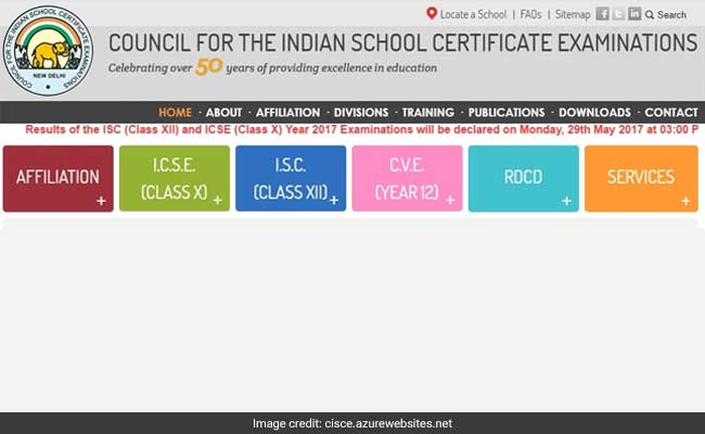 ICSE and ISC results will be declared on Monday afternoon