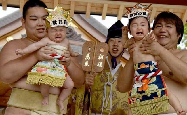 'Crying Sumo' Festival In Japan Leaves Babies In Tears