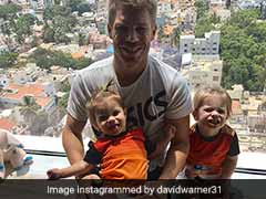 IPL 2017: Ahead of SRH Vs KKR Clash, David Warner Takes Time Out To Have Fun With Daughters