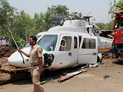 Debris Of Chopper That Crash-Landed With Devendra Fadnavis Moved To Mumbai