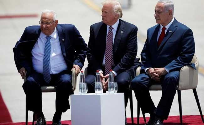 Donald Trump arrives in Bethlehem for talks with Abbas