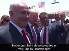 Awkward. Pushy Israeli MP Steals Selfie With Trump, Netanyahu Annoyed
