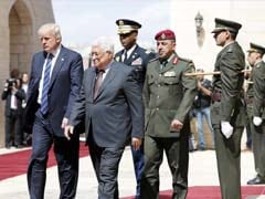 Donald Trump Arrives For Talks With Palestinian Leader Mahmud Abbas In Bethlehem