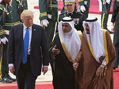 United States President Donald Trump Lands In Riyadh On First Leg Of Foreign Tour