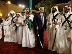 Trump Swings To Saudi Sword Dance, Smile On Face, On First Foreign Trip