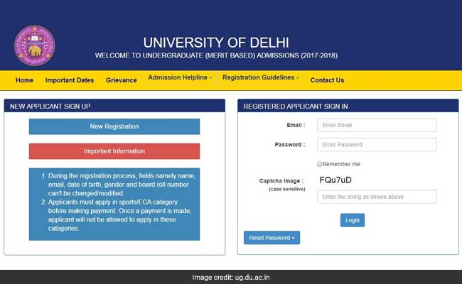 DU UG Admission 2017 Online Registration Begins: Know How To Apply