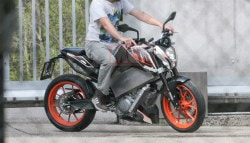 Electric KTM 390 Duke Spotted Testing
