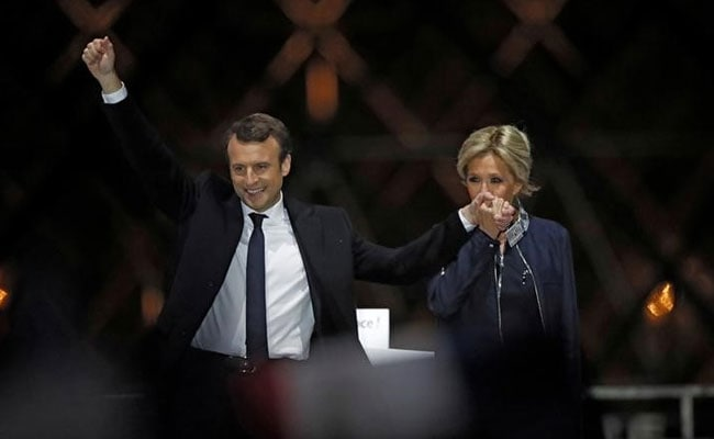 Emmanuel Macron urged the French to embrace rather than reject globalisation.