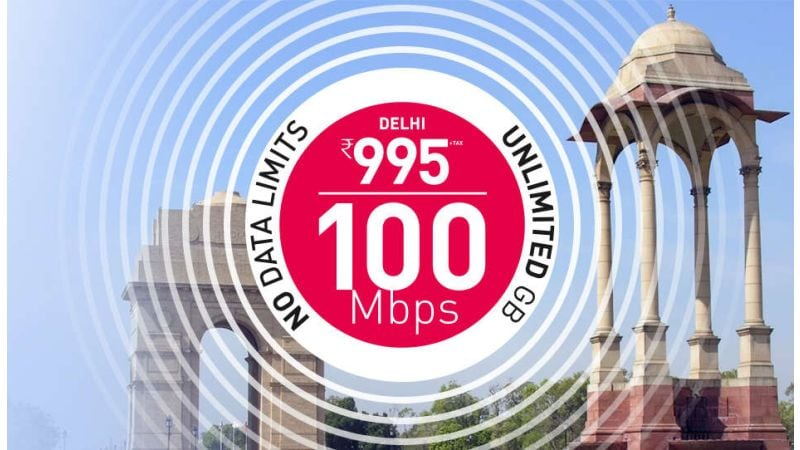 एक्सीटेल ब्रॉडबैंड का ऑफर, 795 रुपये में 100 एमबीपीएस स्पीड में अनलिमिटेड डेटा