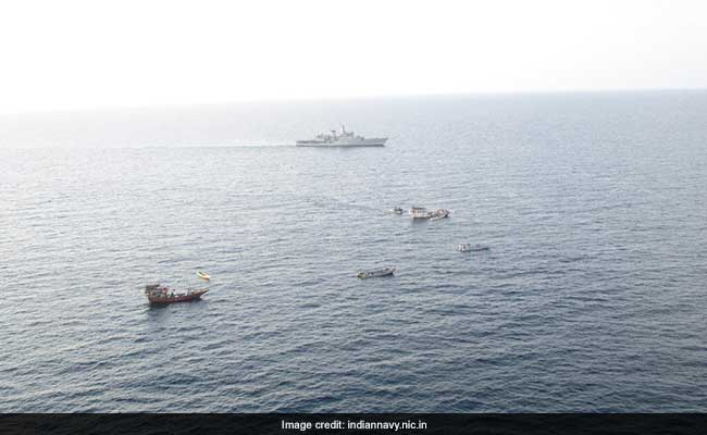 Indian Navy Patrol Ship INS Sharda Stops Piracy Attempt In Gulf Of Aden