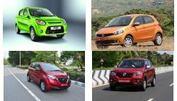 4 Best Hatchback Cars in India Under Rs. 4 lakh