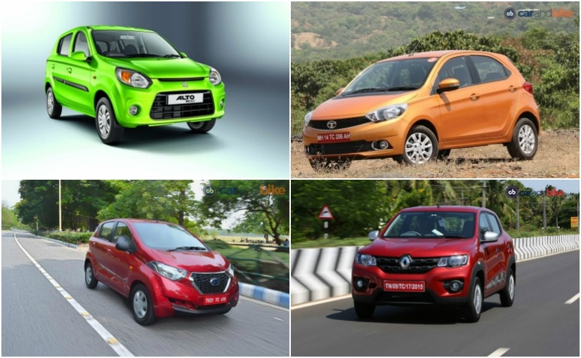 4 best hatchback cars in india under rs 4 lakh ndtv carandbike. Black Bedroom Furniture Sets. Home Design Ideas
