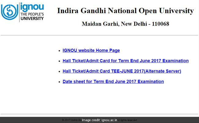 ignou homepage
