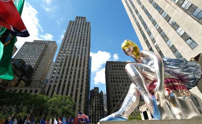 Giant Blonde Inflatable Ballerina Marvels Onlookers In New York
