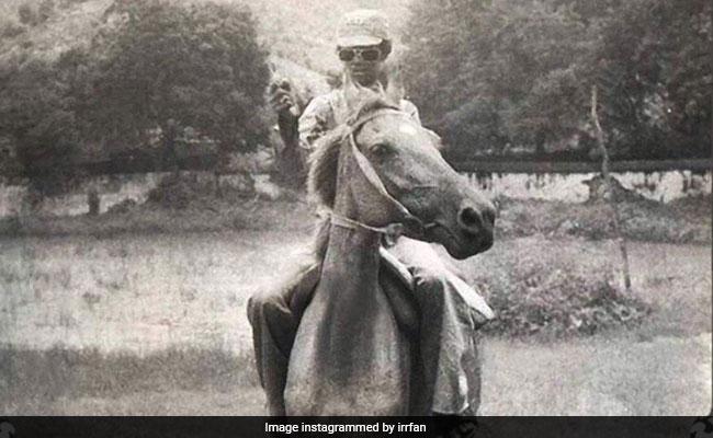अंदाज अपना-अपना: कभी घोड़े पर, तो कभी दिखे गधे पर... इंस्टाग्राम पर इरफान खान की दमदार एंट्री