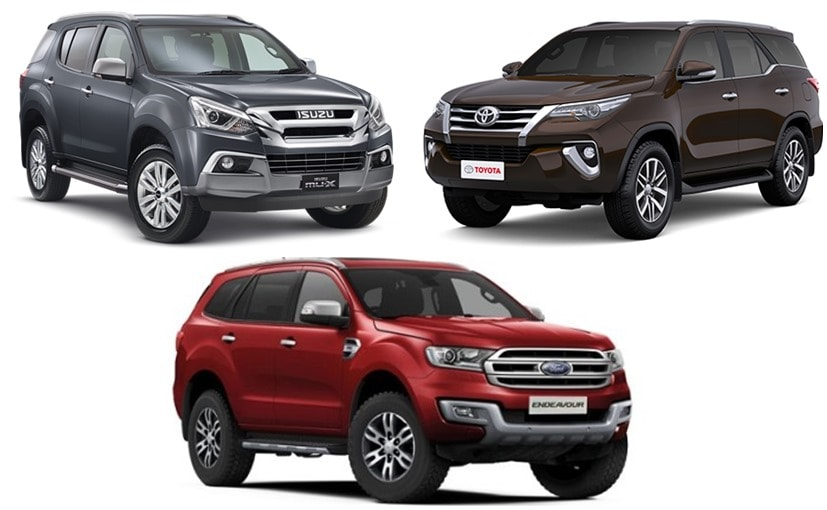 Isuzu MU-X vs Ford Endeavour vs Toyota Fortuner: Specifications Comparison